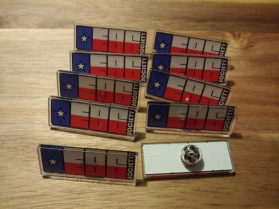 """AE86 Society of Texas """"Lapel"""" pins"""