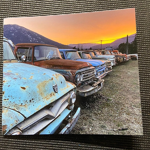 Sunset Trucks - Greeting Card 4x4.5