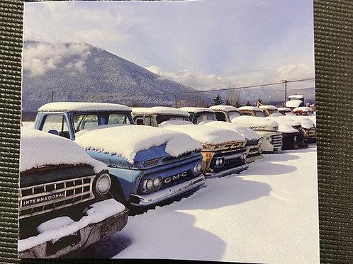 Winter Trucks - Greeting Card 4x4.5
