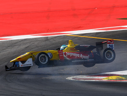 Crash in Practice Complicates Tveter's Weekend at Red Bull Ring
