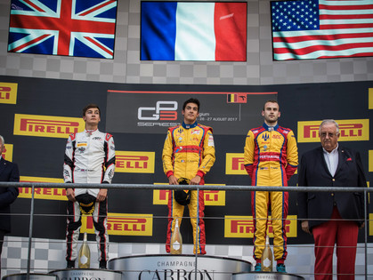 American Flag Flies Again For Tveter's GP3 Podium at Spa