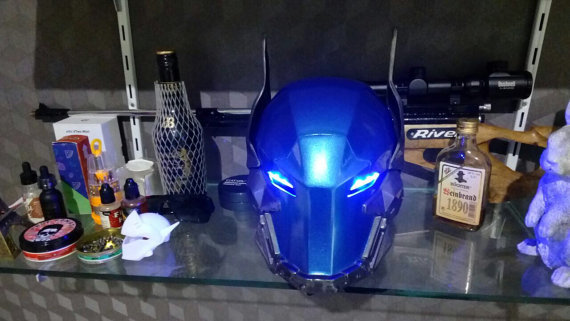Arkham Knight Cosplay Helmet Include LED Eyes