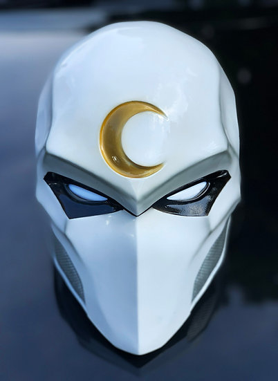 Moon Knight with LED Eyes (White) HQ Resin by Godofprops