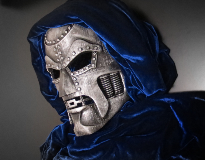 Doctor doom from fantastic four cosplay mask
