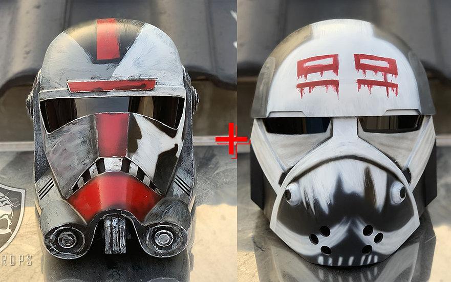 BUNDLING BadBatch Hunter + Wrecker HQ Resin Helmet