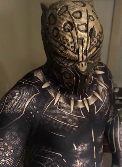 Golden Jaguar - Killmonger HQ Resin Helmet By Godofprops