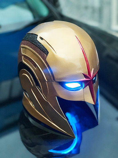 Nova Richard Rider HQ Resin Helmet +LED