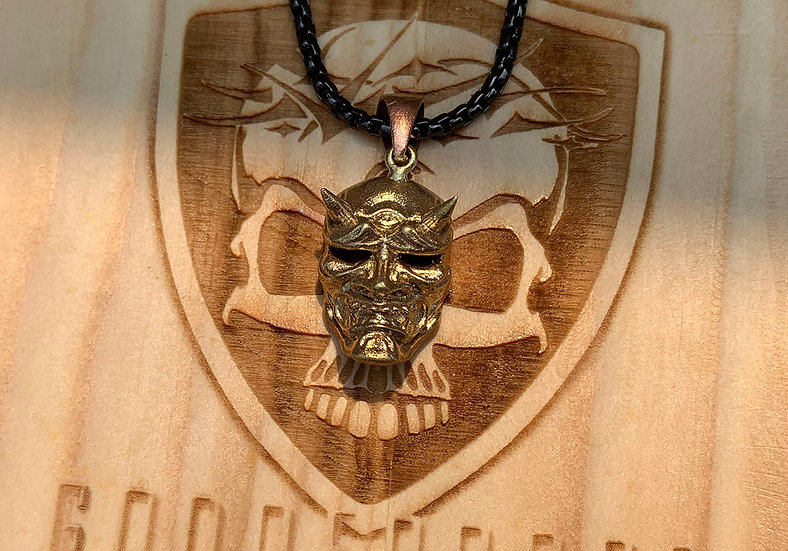 Premium Necklace - Stainless steel Hannya Mask