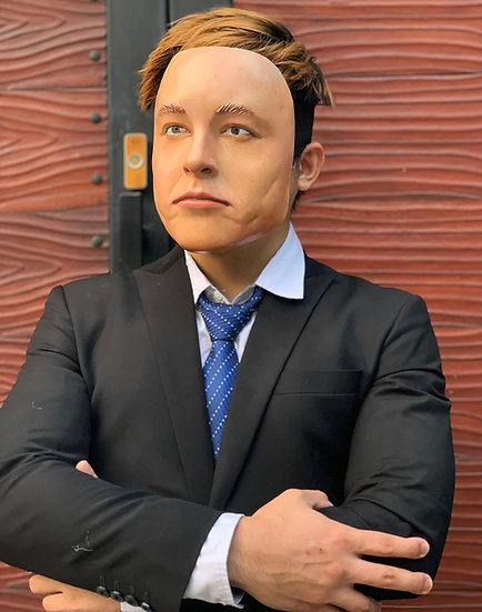 Elon Musk Face by Godofprops HQ resin