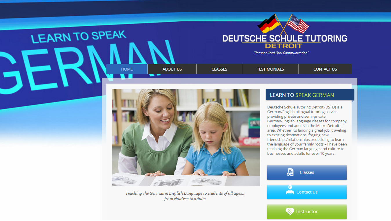 Deutsche Schule Tutoring website
