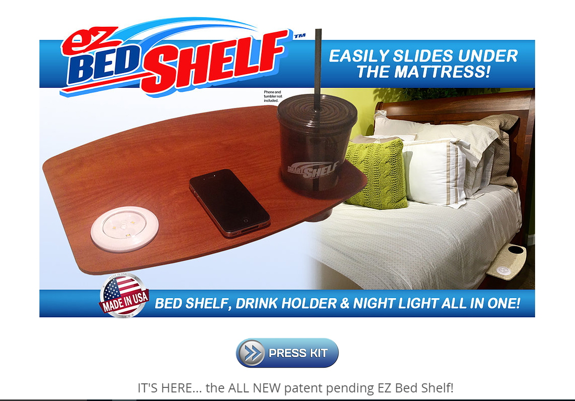 EZ BED SHELF website