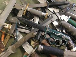 Centennial Knife collage