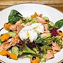 Салат с копченой морской форелью