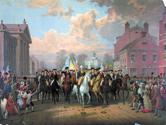 General Washington's Triumphant Return to New York City