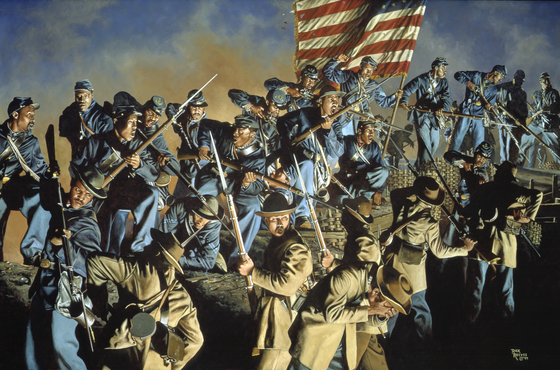 The Fifty-fourth Massachusetts at Fort Wagner