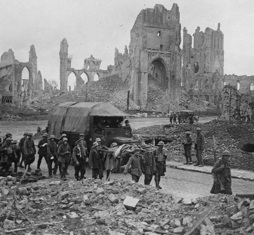 German prisoners being marched through Ypres.