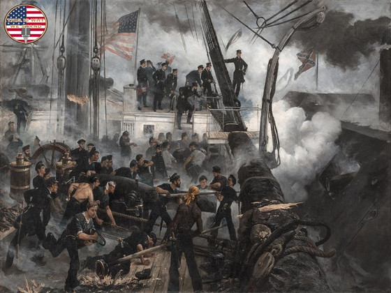 Damn the Torpedoes! - Rear Admiral David G. Farragut at the Battle of Mobile Bay