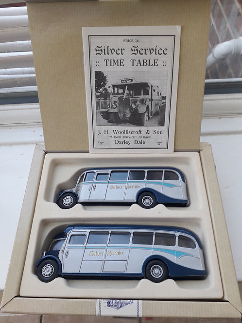 CORGI 97070 THE BUSES OF SILVER SERVICE AEC REGAL + BEDFORD OB COACH