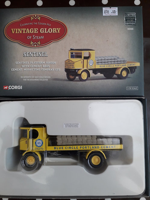 Corgi Vintage Glory 80005 Blue Circle Sentinel platform wagon with cement bags