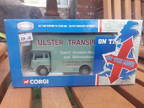 Corgi cc11408 Ulster Transport Authority Bedford TL luton lorry