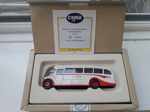 CORGI 97184 AEC REAGAL COACH SHEFFIELD UNITED TOURS