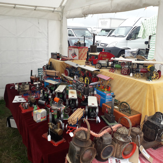 Rusty Relics all set up and ready for th