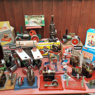 A steam collection of Mamod, Wilesco and