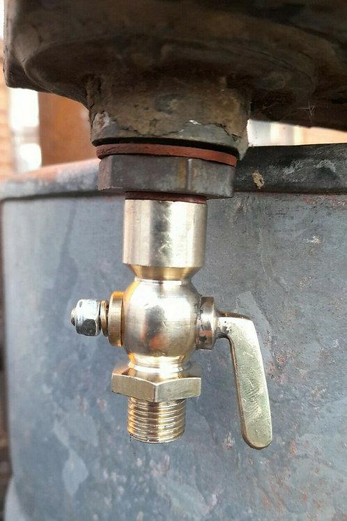 1/4 BSP Brass Fuel Tap male/female