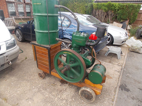 Lister J type petrol stationary engine