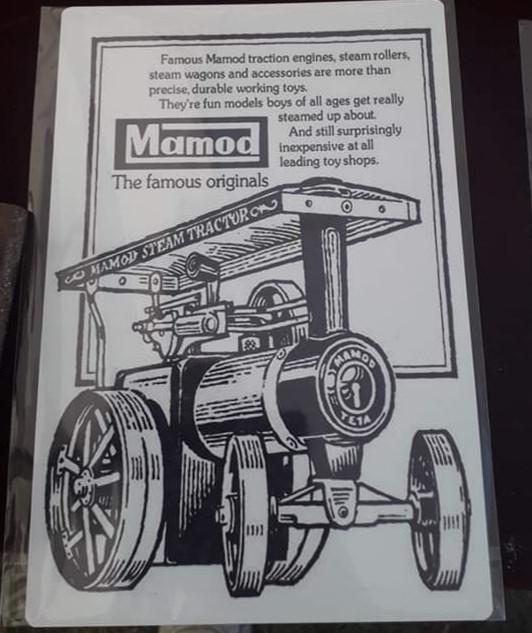 Mamod Live Steam A4 Printed Metal Sign