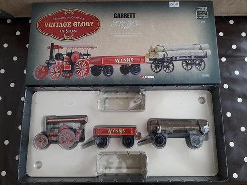 Corgi Vintage Glory 80305 Wynns Garrett Road tractor + trailer + log trailer