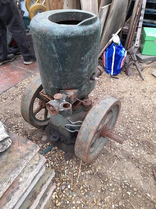 Lister B type twin flywheel petrol stationary engine project