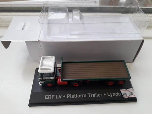 Eddie Stobart Oxford Diecast STOB023 ERF LV platform trailer 'Lynda'