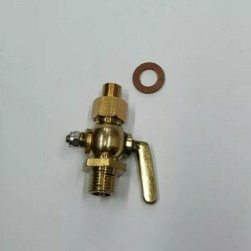 1/8 -1/4 BSP Brass Fuel Tap male/male