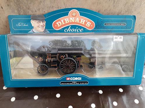 Corgi Vintage Glory 80113 Dibnah's Choice Fowler B6 crane engine + log trailer