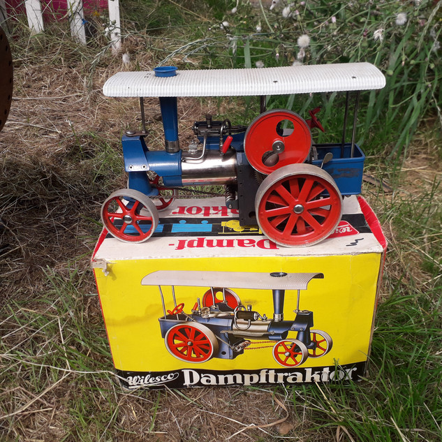 Wilesco D40 live steam tractor, An aucti