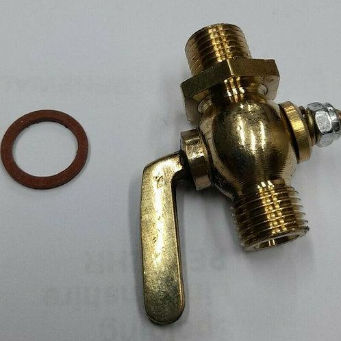 1/4 BSP Brass Fuel Tap male/male