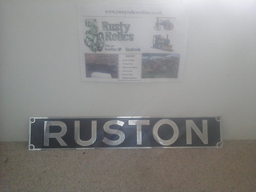 Ruston Hornsby nameplate