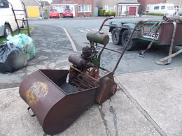 Rusty Relics Qualcast garden cylinder lawn mower vintage horticultural machinery