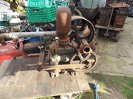 Stationary Engines WANTED Rusty Relics Climax horizontal open crank stationary engine water pump