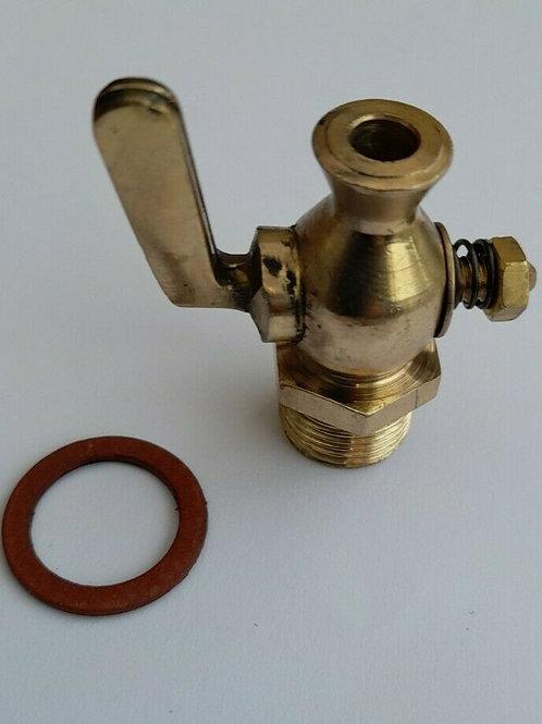 3/8 BSP straight nose water drain tap