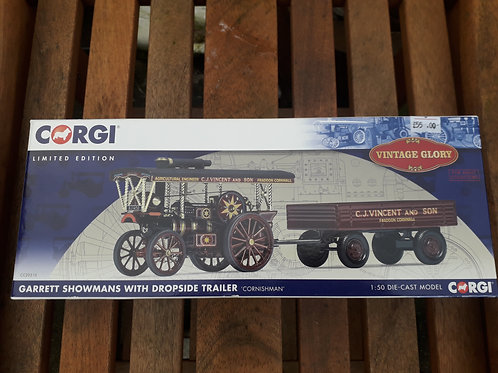 Corgi Vintage Glory 20310 Garret showmans 'Cornishman' with dropside trailer