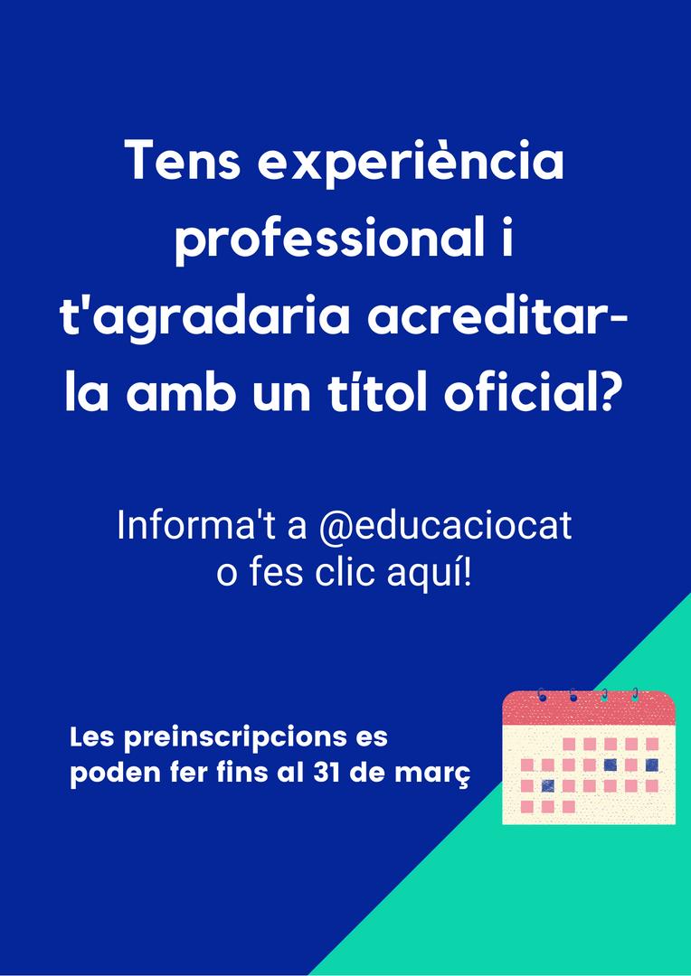Informa't a @educaciocat o fes clic aquí