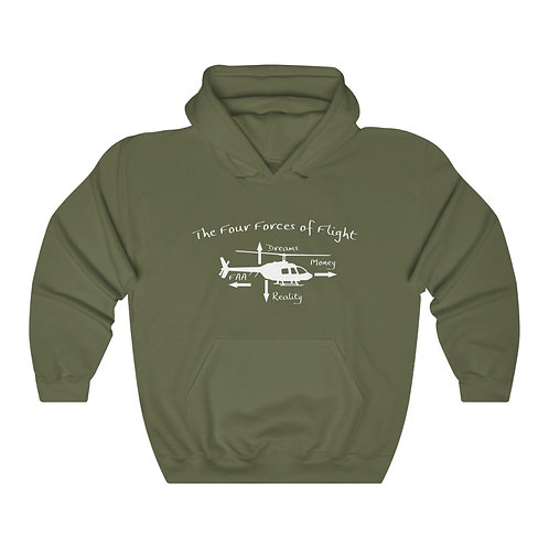 The Four Forces of Flight Helicopter Hoodie