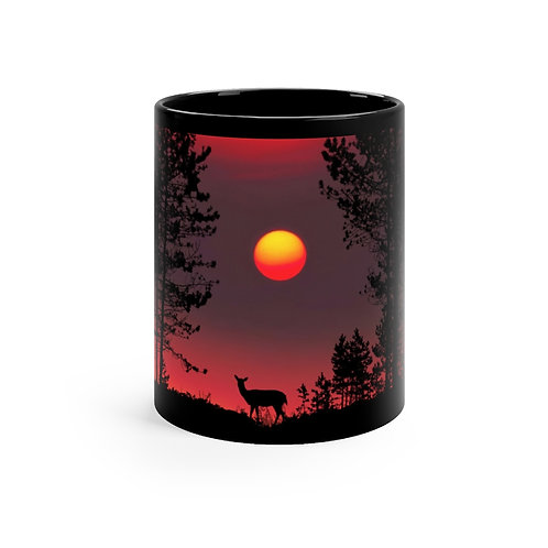 Deer In Forest 11oz Mug