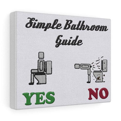 Bathroom Guide Canvas Gallery Wrap