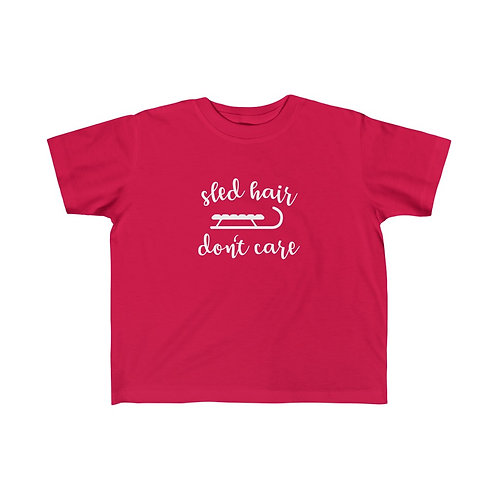 Sled Hair Don't Care Toddler Tee