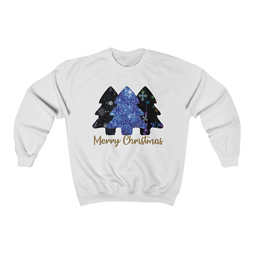 Merry Christmas 3 Trees Unisex Sweatshirt
