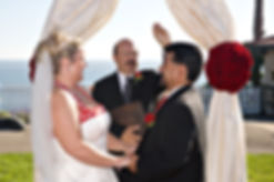 'RocNRev' Michael TaylorSan Luis Obispo wedding officiant, DJ and emcee, Delivers Wedding Vows At Shore Cliff Lodge, Pismo Beach
