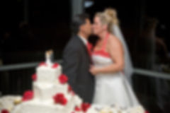 'RocNRev' Michael Taylor, San Luis Obispo wedding officiant, DJ and emcee Presides Over Cake Cutting At Ventaña, Pismo